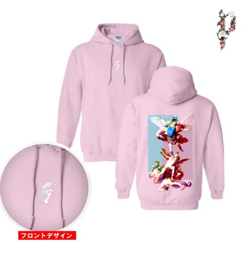 Polyphia/ポリフィア - Fallen Angels プルオーバーパーカー(ピンク)