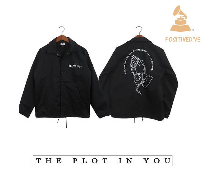 The Plot In You /ザ・パイロット・イン・ユー - Praying Hands コーチジャケット(ブラック)