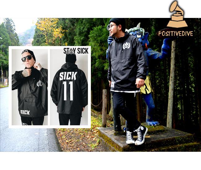 Stay Sick Clothing/ステイ・シック - Sick Sport ウィンドブレーカー