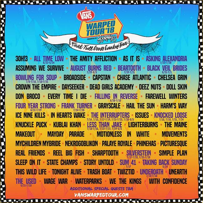 warped tour 18