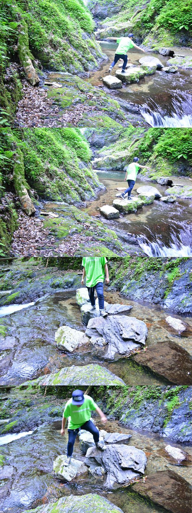 野鹿の滝 turnstile