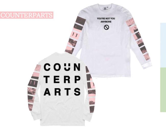 Counterparts /カウンターパーツ - Not You ロングスリーブ・長袖シャツ(ホワイト)