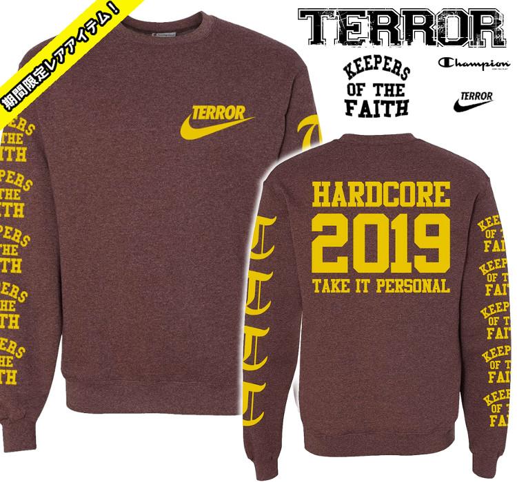 TERROR / テラー - Take It Personal クルーネックトレーナー・