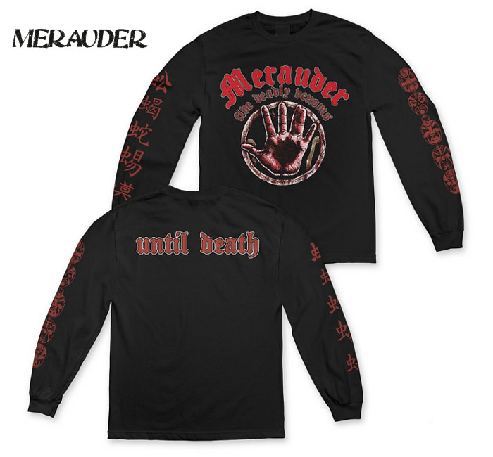 99年にCentury mediaよりリリースされていた2ndアルバム「Five deadly venoms」をタイトルに、そのジャケットに描かれている ハンドデザイン、バックにはUntil Death、袖にはマスクデザインと漢字の90'sなハードコアの世界観が表現された 激レアシャツ!