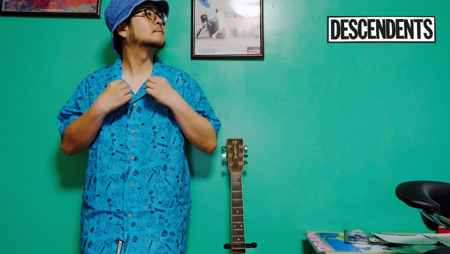 Descendents /ディセンデンツ - Milo Pattern ボタンシャツ・オープンカラー半袖シャツ(アクアブルー)